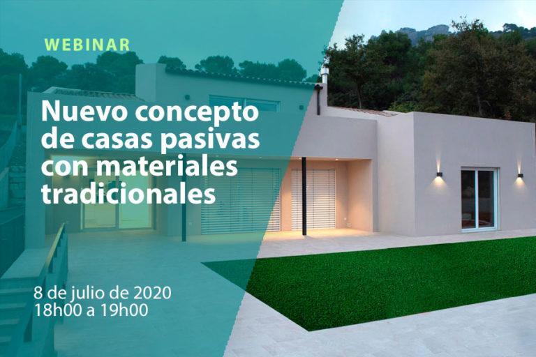 Nuevo concepto de casas pasivas con materiales tradicionales
